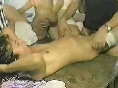 Gangbang with hot Brazilian teens!