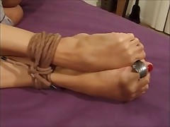 Tied up girls horny for each other