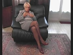 Amateur French Granny in Stockings Compilation
