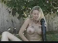 Blonde total insertion !!!