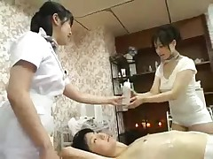 Tits massage each other