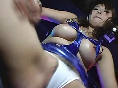 Busty Japanese girl,big nipples,Hairy pussy, Teases (MrNo)