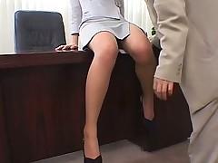 Pantyhose office secretary gets nylon sex ruled