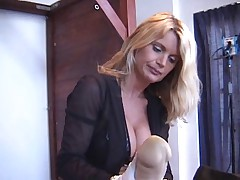 Lisa Berlin, Rub-down the German Strap-on Queen, HARD FUCKS their way slave