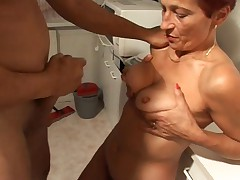 German aunt and lover - Tante fickt Freund