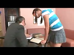 Student with pigtails fucks teacher