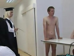 Cfnm Group British Schoolgirls Give Handjob