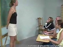 Teacher Shows Students How To Discipline