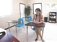 The Sexy Redhead Schoolgirl Has Her Face Fucked By A Lucky..