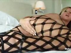Blonde In Hot Fishnet 1