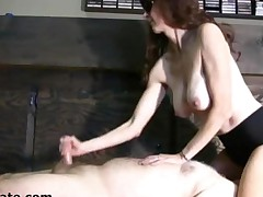 Busty Wife Gives A Facesitting Handjob