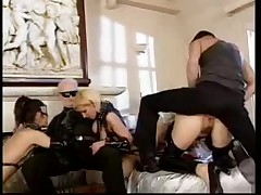 Hot Leather Girl In Fetish Trailer