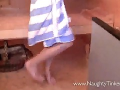 Lesbian Sauna Sex Session With Bizarre Stiff Brush Sore..