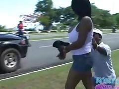 Ebony Teen Say That Even A Midget Has A Bigger Dick Than..