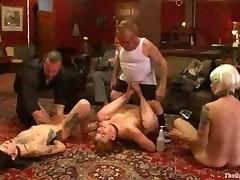 Slave Gives Footjob Until Midget Cums In The End