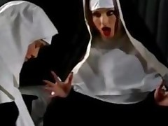 Abbess In Sexy Lingerie Spanking Nun Getting Her Pussy Licked..