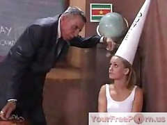Naughty Student Jasmin Gets Punished For Bad Behaviour Part1