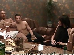 Corporate Group Orgy In A Sauna