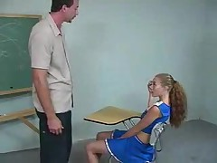 Cheerleader Gets Spanked