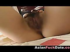 Korean girl masturbating and gets help