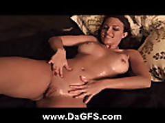 Oiled Up Lilly Plays With Her Pussy