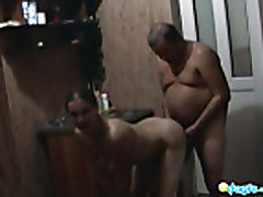 Couple fucks a lot after shower