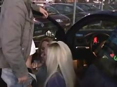 German Teens Parking Fuck in Public