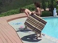 Magens & Jessi: Teens Having Pastime At The Pool