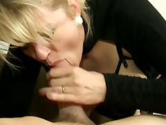 Hot looking big tits milf in lingerie boned