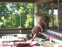 Blond and flat fucked by black and horny