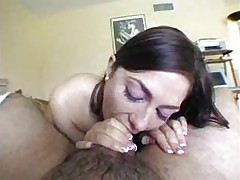 Blowjob with spitting and slapping