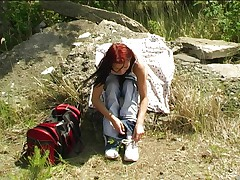 Young Mili on trekking tour