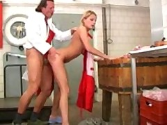 White Chick Fucked In The Kitchen