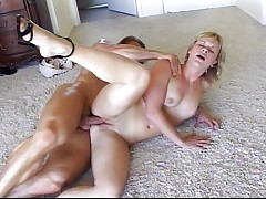 Vaginal sports with shaved blonde