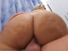 Brazilian with a major ass goes anal