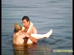 Couple captured having sex in lake