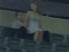 Amateurs having sex in stadium