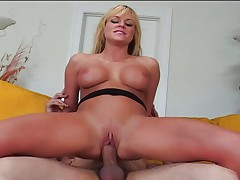 Hot MILF giving shaved pussy