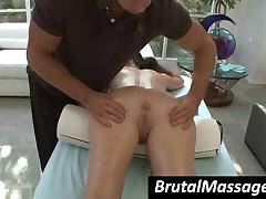 Jenna Presley - Big Boobed Brunette Hottie Gets Round Ass Massaged