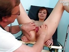 Terri - Mom Terri Having Pussy Examined By Old Kinky Doctor On Gynochair