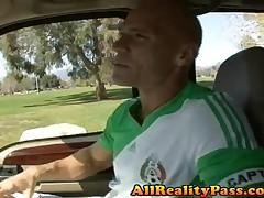 Reena Sky - Horny Spanish Flies - Latin Soccer Player Smacks Balls