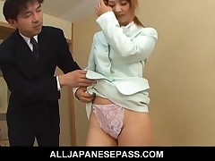 Asumi Mizuno - Japanese Teen Asumi Mizuno Comes To The Bridal Rehearsal In A Blue Dress And She Catc