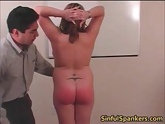 Hot Skank Was Being Naughty And Getting Her Stinker Slapped Till Its All Red 2 By SinfulSpankers