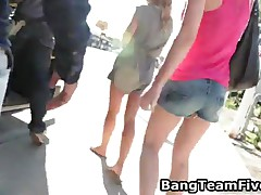 Three Horny American Babes Enjoy Fucking Cocks They Picked Up In Public 1 By BangTeamFive