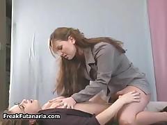 Horny Teacher Jerking Her Female Student Her Huge Cock Till She Cums By FreakFutanaria