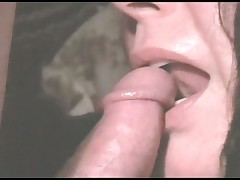 Slow blowjob makes him cum