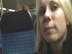 Young german couple fucking on a train