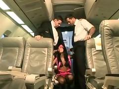Sexy stewardess in pink