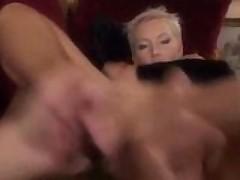 Gorgeous blonde gets her hard body ravaged