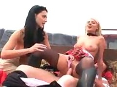 Aletta Ocean & Jasmine Rouge Threesome Hayride